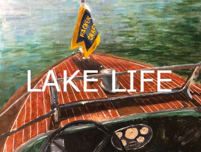 Lake Life paintings in gallery